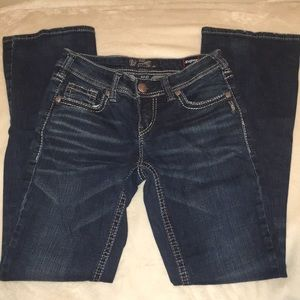 Silver Aiko 27/33 Bootcut Jeans
